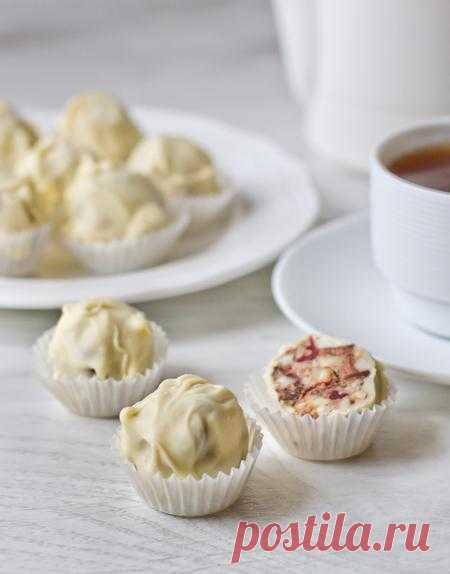Пошаговый фото-рецепт ореховых конфет в белом шоколаде | Десерты | Вкусный блог - рецепты под настроение
