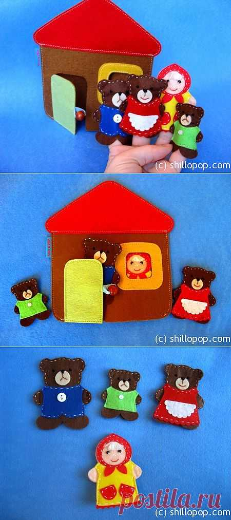 """Развивающие игрушки от Shill O'POP » Пальчиковый театр """"Три медведя"""""""