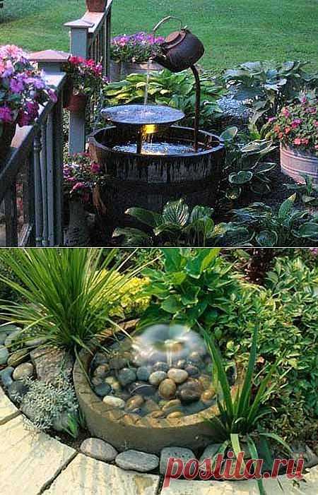 Секреты красивого сада: маленький водоем в саду/ДАЧА своими руками