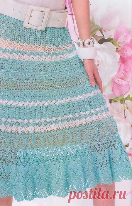 Красивая юбка крючком Красивая юбка крючком   вязание ...