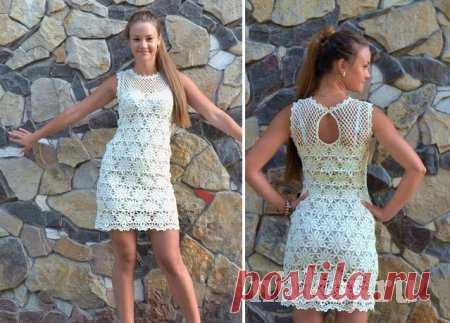 платье крючком лина от Ledi Ti ниткой вязаные вещи для вашего