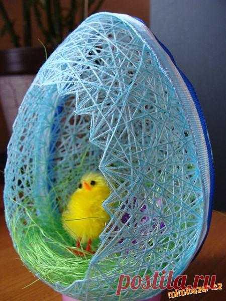 Яйцо из ниток, Мастер-класс по фото.