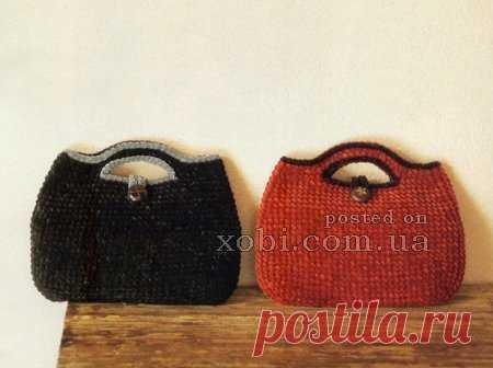 4b6925025f27 вязаные сумки из велюра | Вязание | Постила