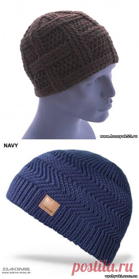 схема вязания мужской шапки крючком вязание крючком шапки шали