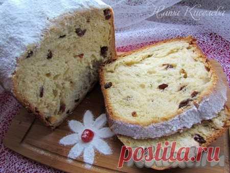 Сдобный кекс с изюмом в хлебопечке - 10 пошаговых фото в рецепте Ароматный, воздушный и вкусный сдобный кекс с изюмом, приготовленный в хлебопечке, по вкусу и структуре напоминает пасхальный кулич. В кекс, кроме изюма, можно добавить сушеную вишню, курагу или орехи, а верх смазать глазурью или посыпать сахарной пудрой. Рецепт рассчитан на кекс весом 750 ...