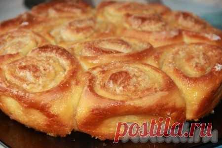 """Los panecillos más tiernos """"Улитки"""" - la receta de la foto de Vkusneyshie, más tiernos, con el gusto de leche del panecillo """"Улитки"""" no le dejarán indiferente. Este complemento ideal a la cena familiar."""