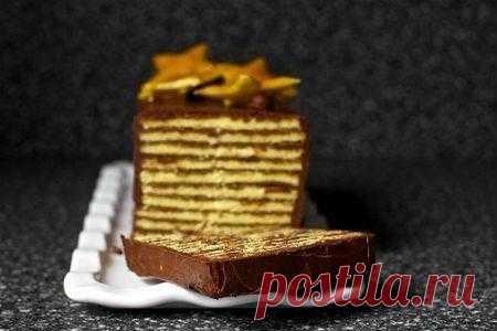 """Рецепт торта """"Добош"""". 1001 ЕДА вкусные рецепты с фото!"""