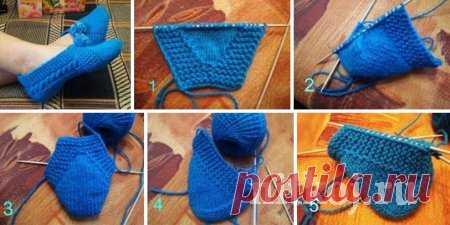 Тапочки без швов » Ниткой - вязаные вещи для вашего дома, вязание крючком, вязание спицами, схемы вязания