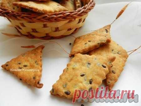 Домашнее печенье (крекер) с семенами льна - 8 пошаговых фото в рецепте Предлагаю приготовить простое домашнее печенье, которое можно подать к утреннему кофе или к супу-пюре на обед. Приятное на вкус, хрустящее рассыпчатое печенье с семенами льна обязательно понравится и взрослым, и детям. Ингредиенты