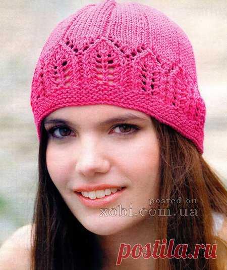 красивая шапочка цвета фуксии