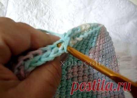 необычная техника вязания плотного полотна крючком вязание крючком