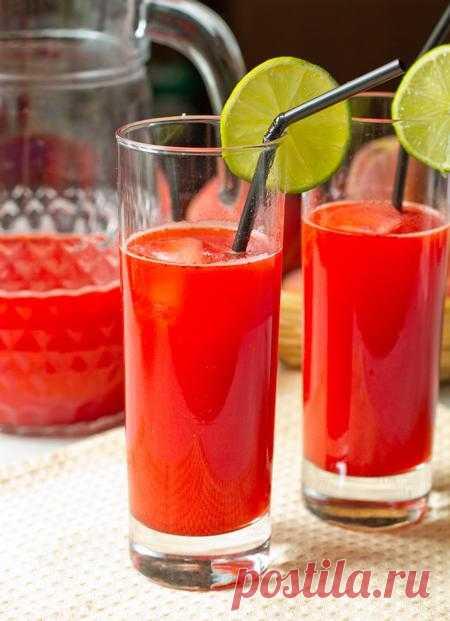 Пошаговый фото-рецепт клубнично-лаймового освежающего напитка   Напитки   Вкусный блог - рецепты под настроение