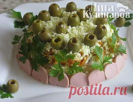 Салат слоеный Ассорти — рецепт пошаговый от Лиги Кулинаров