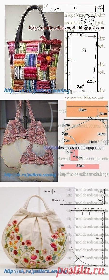 Подборка выкроек летних сумок