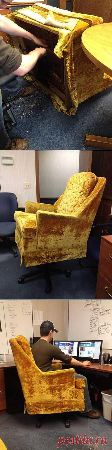 (+1) - Полушуточная самоделка: офисное кресло своими руками | МАСТЕРА