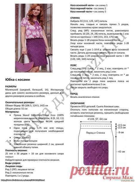 Описание моделей по вязанию юбок