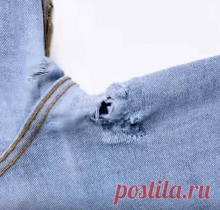Отличные идеи починить любимые джинсы (Шитье и крой) http://zhurnal.rykodelniza.ru/otlichnye-idei-pochinit..