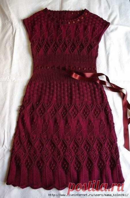 Схема для вязания платья спицами