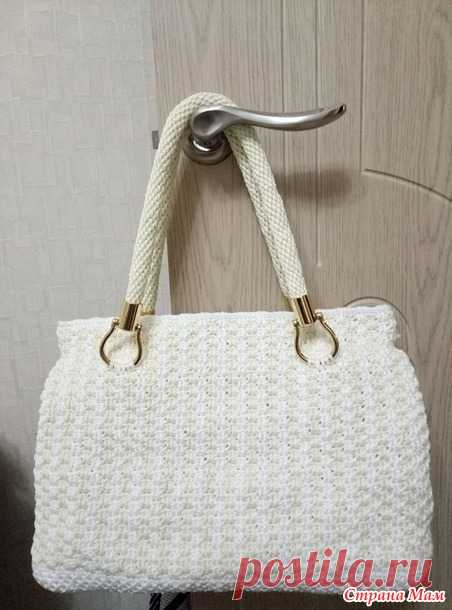 76c23757f940 Летняя сумка крючком из пряжи Ярнарт 'Макраме' - Вязание - Страна ...