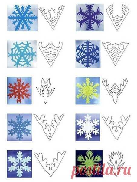 Снежинки из бумаги шаблоны для вырезания - 50 штук! — Поделки с детьми