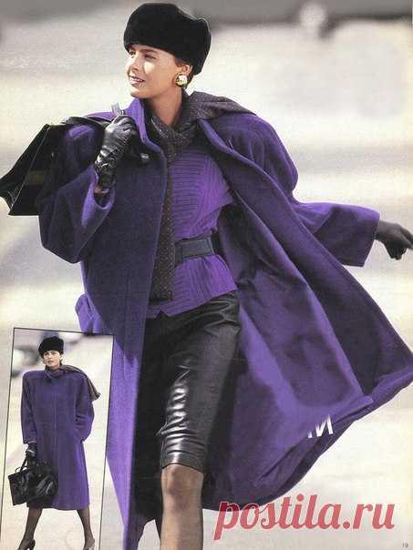 Пальто Modell № 8 04/1987  р-р 34-44 евро Спасибо за выкройку группе  Электронные выкройки и журналы. BURDA BY  #выкройки#выкройкиженскиеские#выкройкибесплатные#выкройкаппальто