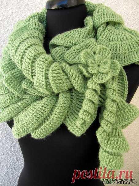 La bufanda espiral - con extravagancia y rápidamente