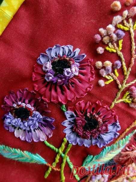 Вышивка цветов: изумительные идеи — DIYIdeas