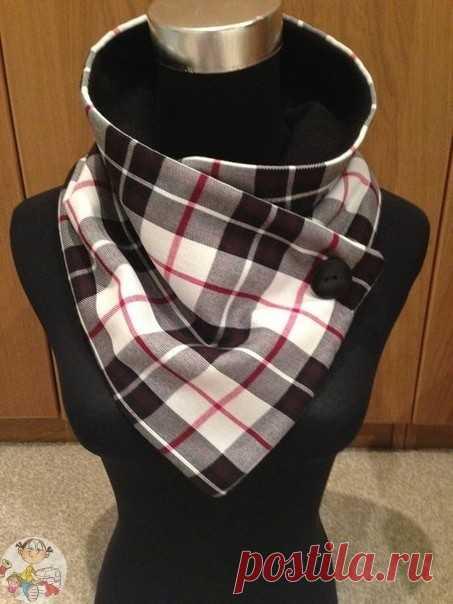 Необычные и очень теплые шарфики