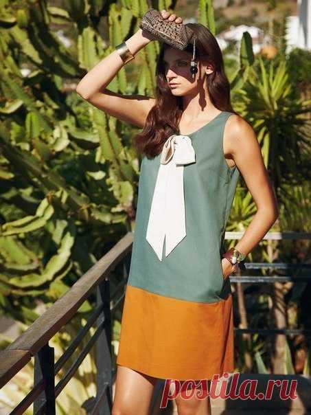 Выкройка платья прямого силуэта  #платье@fashion.freak