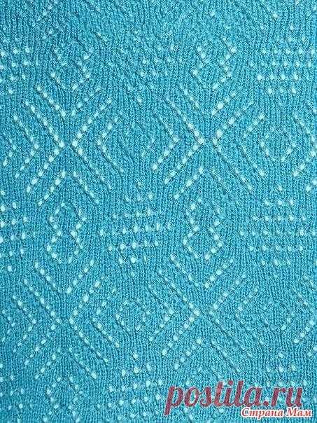 Ажурный топ спицами, Вязание для женщин