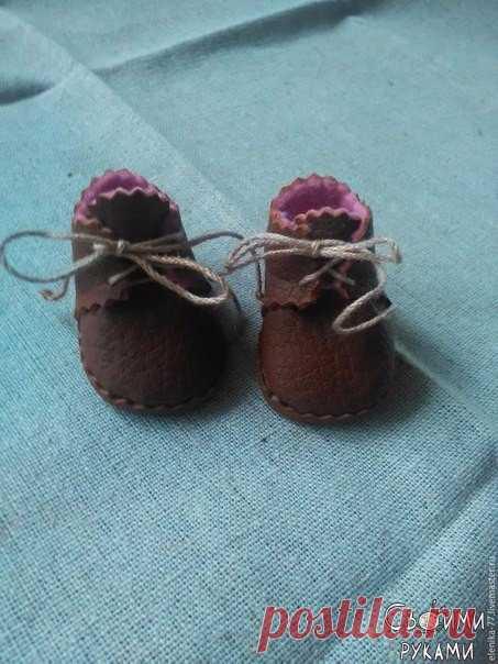 Миниатюрные ботиночки для куклы или мишки