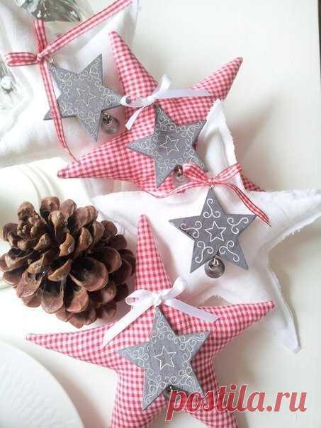 Яркие елочные игрушки и Новогодние подарки с выкройками — Делаем руками