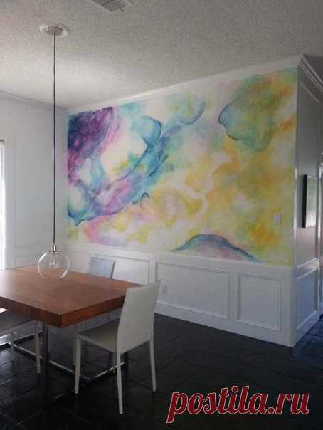 10 ejemplos estupendos akvarelnoy las pinturas de las paredes