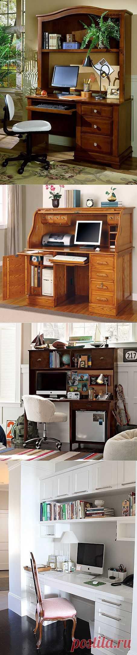 Компьютерный уголок в интерьере дома.