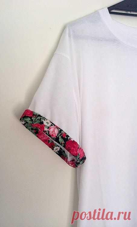 Декор рукавчика / Футболки DIY / Модный сайт о стильной переделке одежды и интерьера