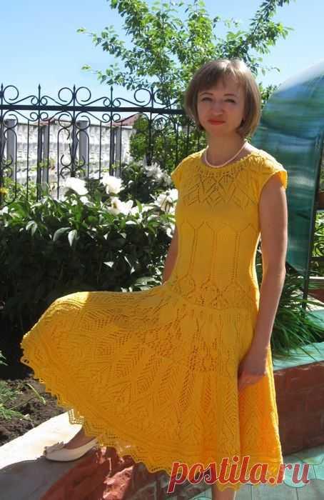 30 моделей ажурных платьев спицами с описанием и схемами, Вязание для женщин