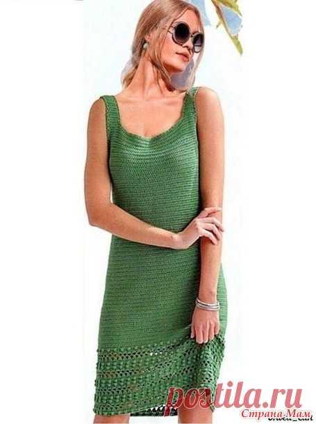 Зелёное платье - Все в ажуре... (вязание крючком) - Страна Мам
