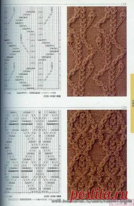 Японские узоры  -  расшифровки обозначений находятся в фотоальбомах группы