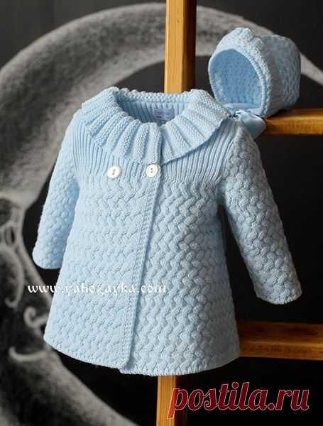 Детское пальто спицами. Нарядное пальто спицами для девочки
