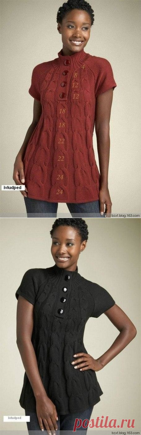 Туника-платье Mac & Jac с «осинки» (Вязание спицами) — Журнал Вдохновение Рукодельницы