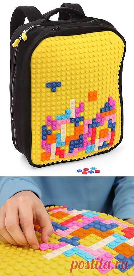 Прикольный рюкзак с легоподобной панелью Uanyi Pixel Art Backpack / Вещь / Модный сайт о стильной переделке одежды и интерьера