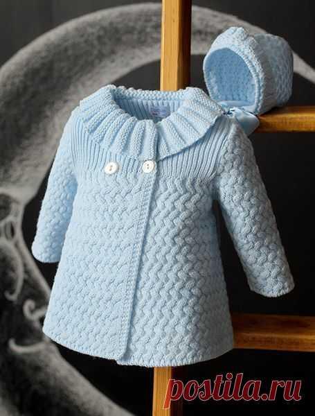 Вязание на спицах. пальто для девочки