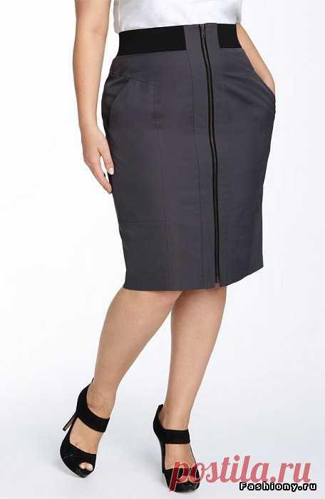 Полным женщинам - выкройка юбки для полных