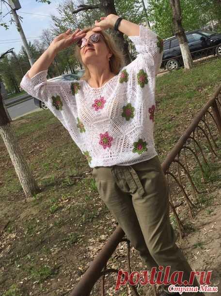 Майская кофточка крючком - Вязание - Страна Мам