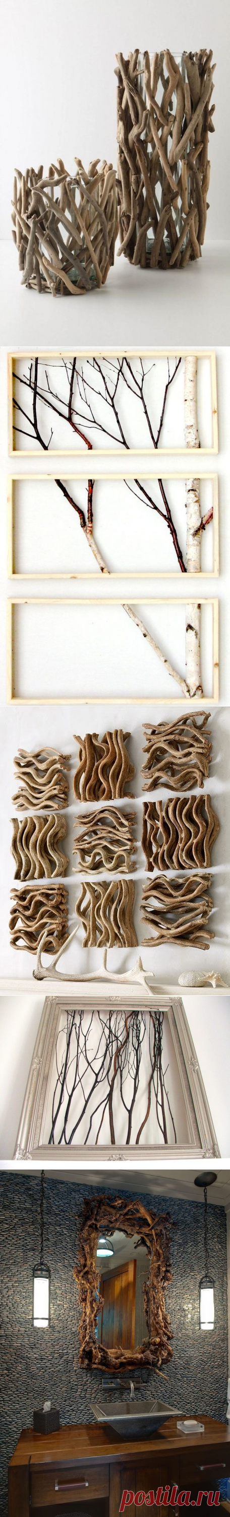 10 simple ideas of a decor from branches