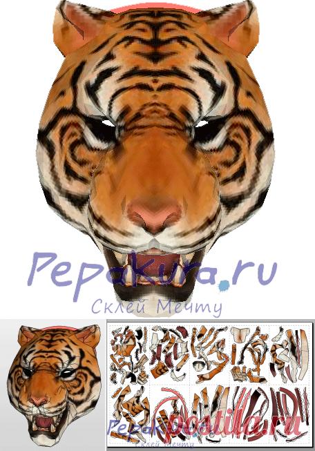 Маска Тони пдо скачать схема | Tiger Mask Tony pdo template