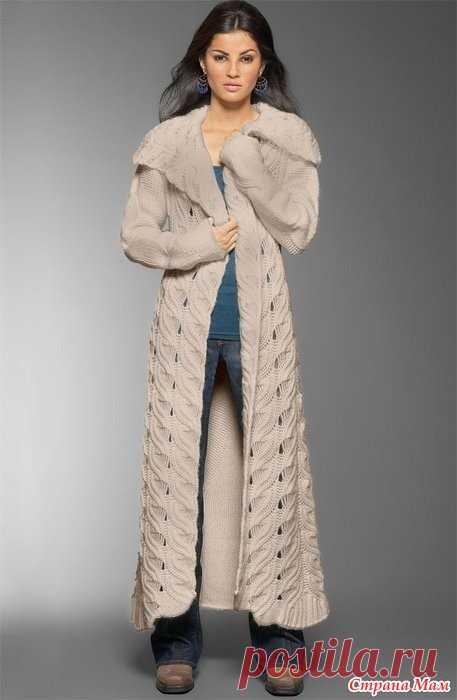 Пальто и жакет - очень красивый и стильный узор.