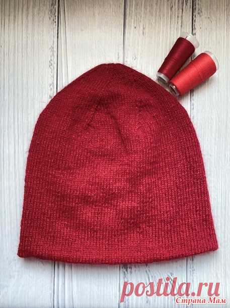 Двойная двухслойная шапка из