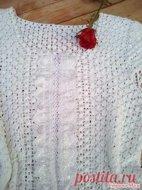 . Блузка (топ) крючком для мамы - Вязание - Страна Мам
