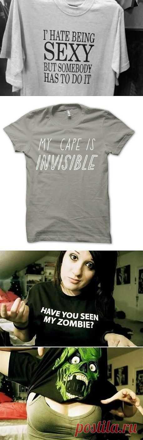 3 футболки с надписями / Рисунки и надписи / Модный сайт о стильной переделке одежды и интерьера